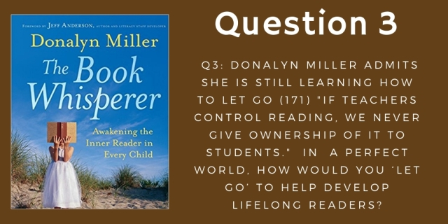 Question 3 The Book Whisperer October 14th