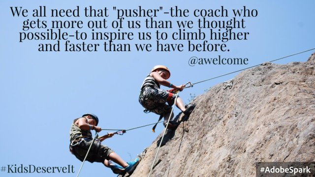 coaches who push and encourage